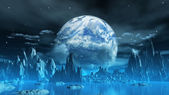 divný ledová planeta
