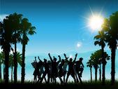 lidé párty v tropické krajině
