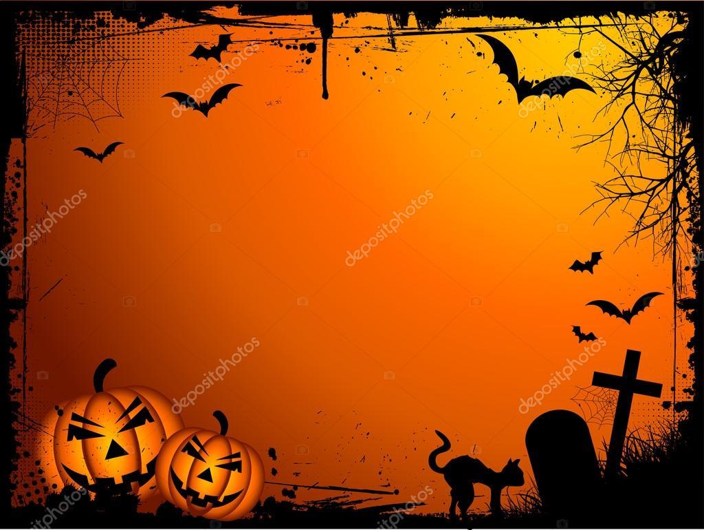 Grunge Halloween background — Stock Vector © kjpargeter #40536837
