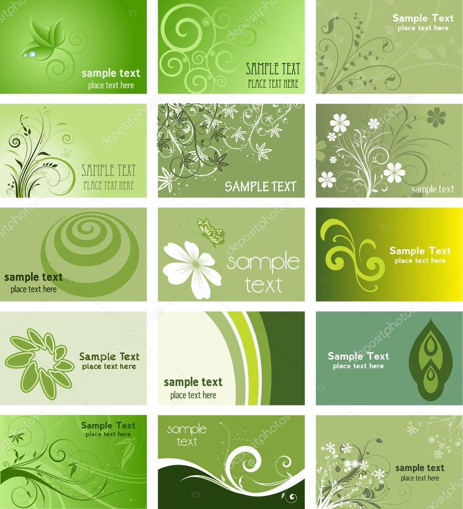 Cartes De Visite Sur Le Thme Nature Image Vectorielle