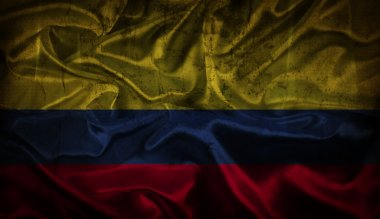 Grunge Colombian flag background