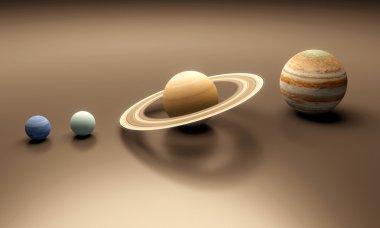 Planets Neptune Uranus Saturn and Jupiter