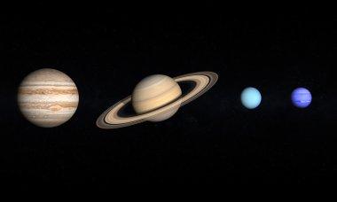 Planets Jupiter Saturn Uranus and Neptune