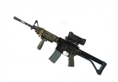 Modern weapon series. US Army Spec Ops M4A1 custom build carbine with RAS Viltor
