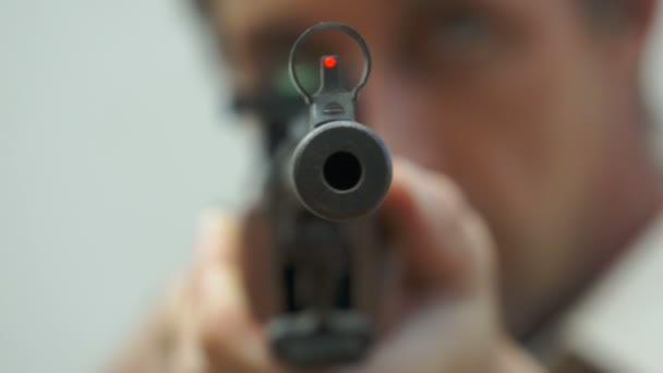 Tip of the Rifle Barrel Pointing at You