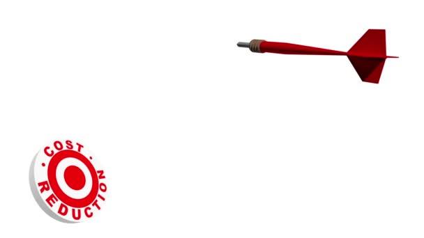 3D freccetta colpire lobiettivo di riduzione del costo