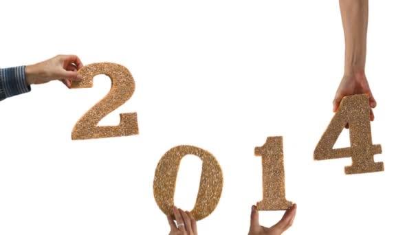 Nový rok 2014 ruce