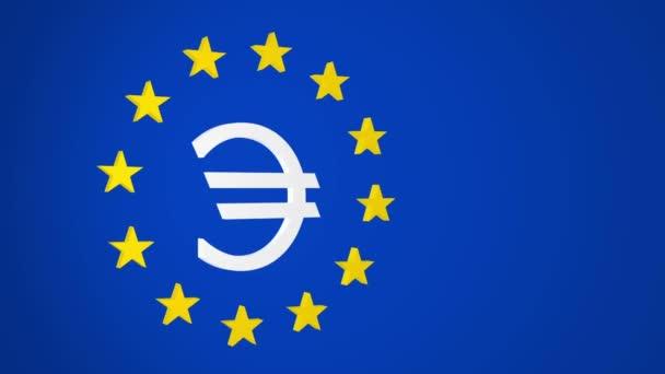 European Union Euro Symbol and Stars