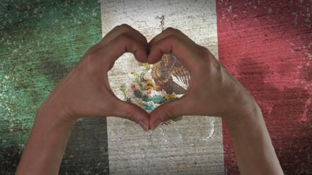 Hands Heart Symbol Mexico Flag