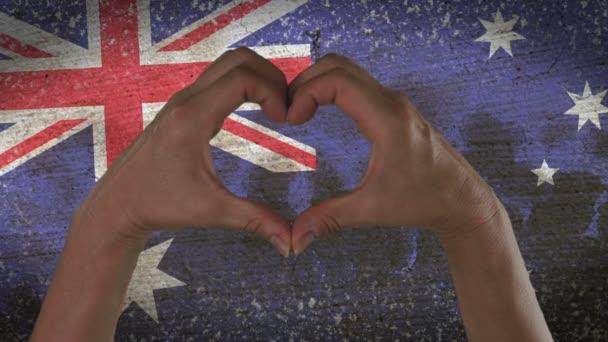 Hands Heart Symbol Australian Flag