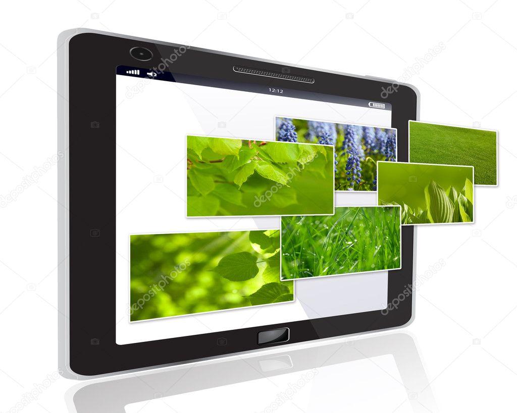 Stylish touchscreen smartphone