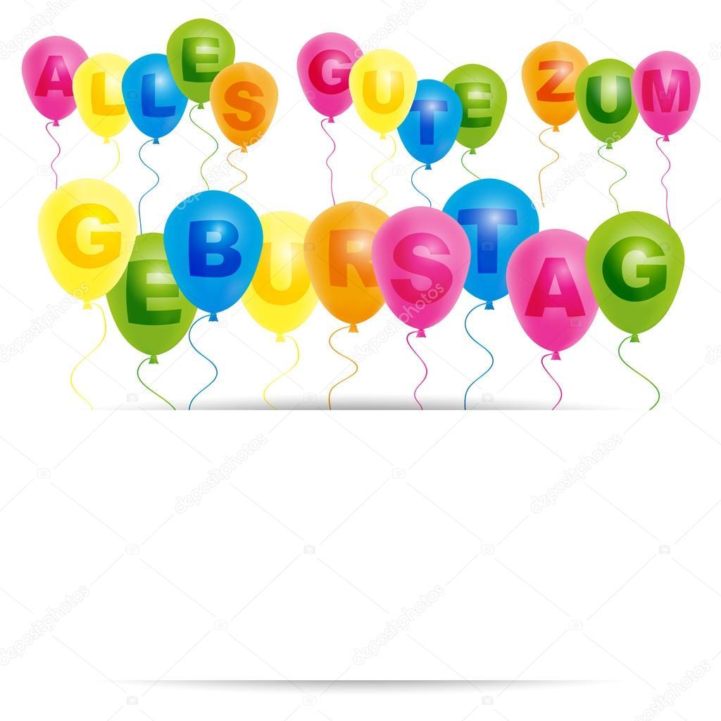 grattis tyska Grattis på födelsedagen kort   tyska — Stock Vektor © jamdesign  grattis tyska