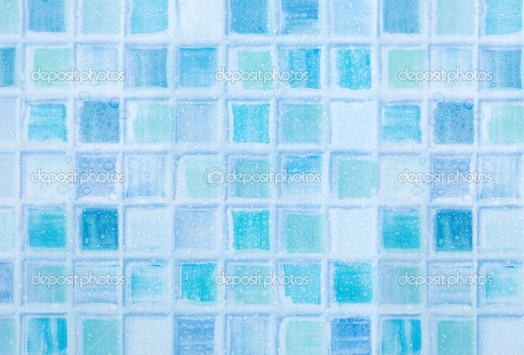 blauen Fliesen im Badezimmer — Stockfoto © jamdesign #25203291