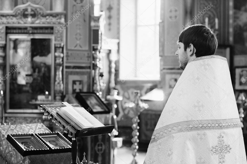 Priest during a ceremony