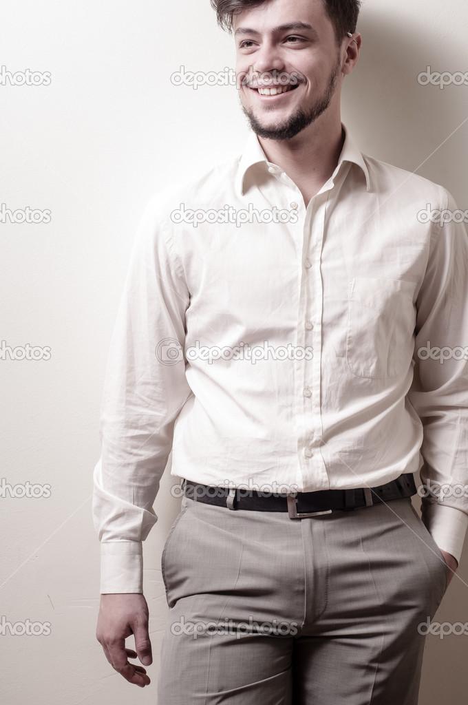 stylish modern guy with white shirt � stock photo 169 peus
