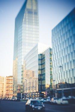 blurred city tilt shift