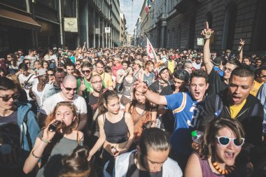 Labor day held in Milan