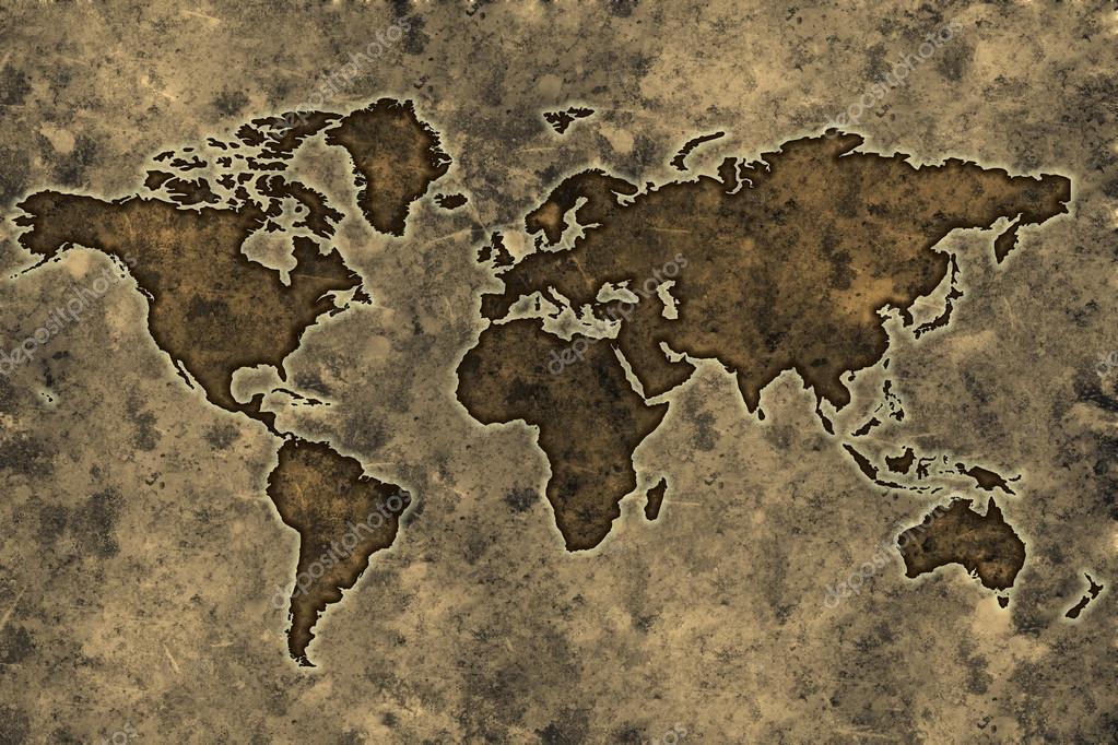 Carte Du Monde Parchemin carte du monde parchemin — photographie myper © #12564675