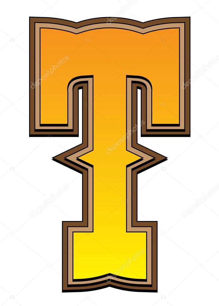 western alphabet letter t stock photo