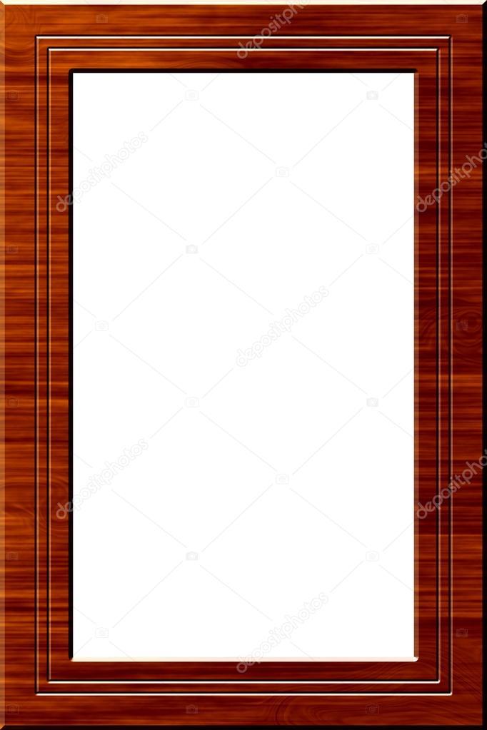 marco de madera retrato — Fotos de Stock © myper #13677942