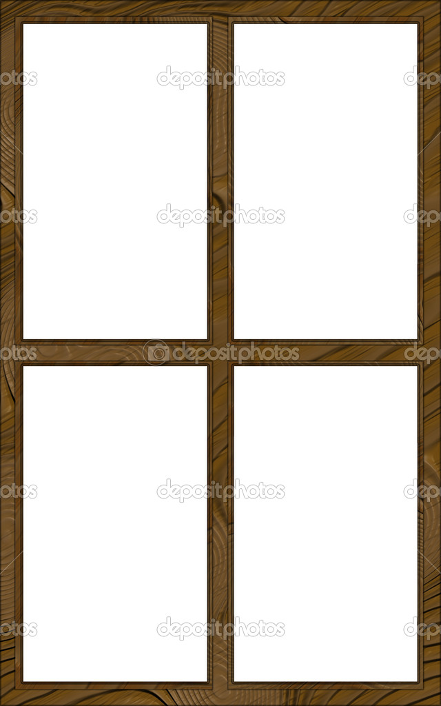 aislado ventana marco 4w contorno 2l — Foto de stock © CD123 #22013659