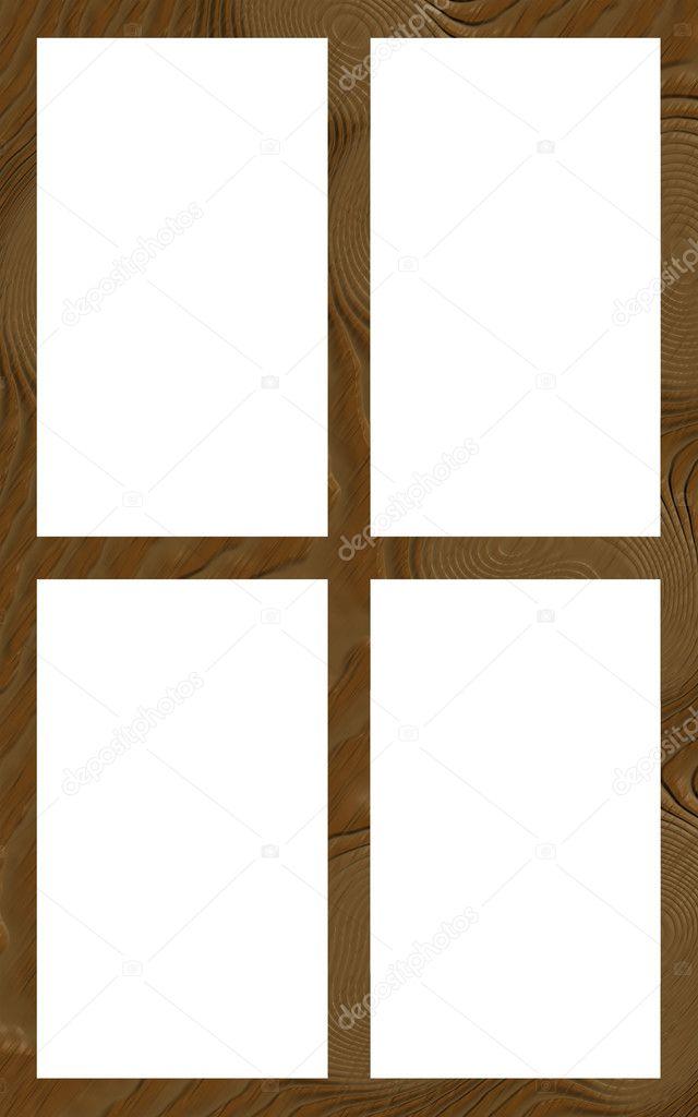 isolierte Fenster Frame 4w flach — Stockfoto © CD123 #22013961