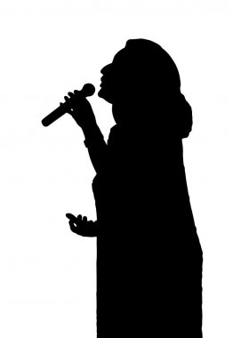 Opera Singer Silhouette