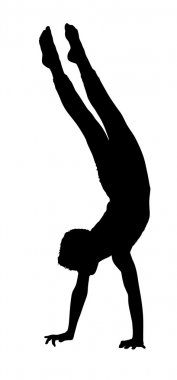 Acrobatic Gymnastics Boy Busy with Walking on Hands Routine