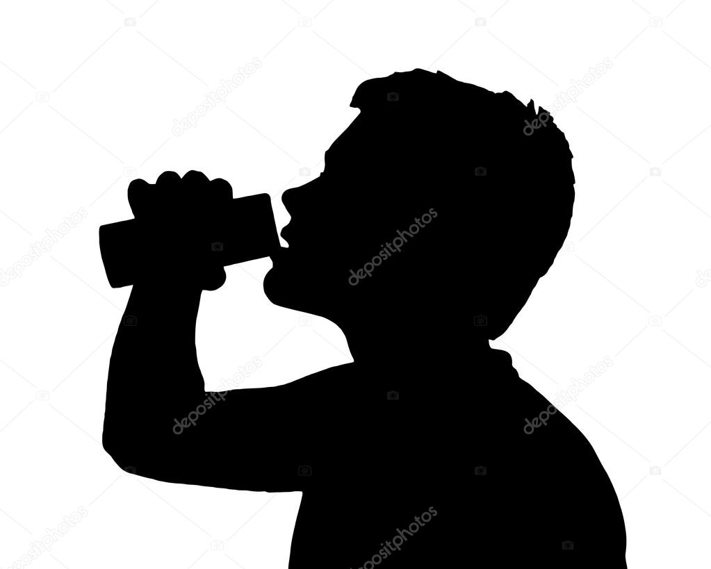 Cd123 Silhouette Drinking Stock Teen © — Vector 44850971 Boy Can From
