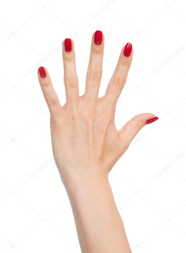 Маникюр левой рукой