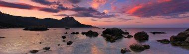 Panorama of the sea sunset