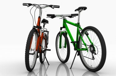Two bicycles.
