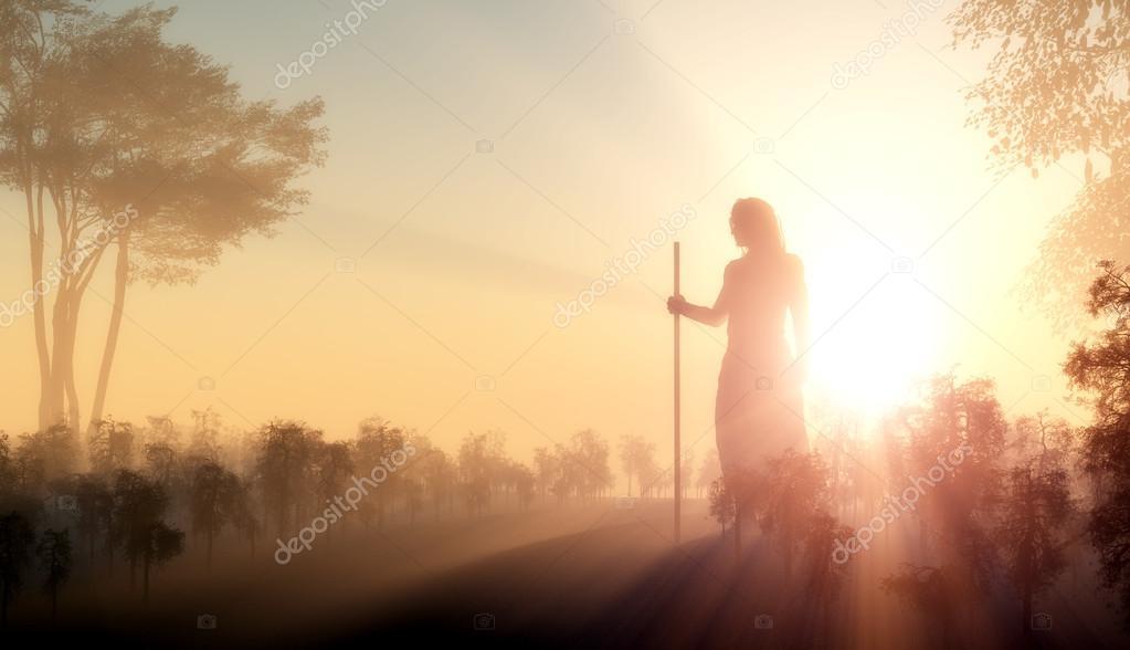 Silhouette of Jesus