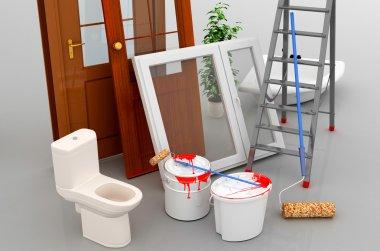 Repair of apartments.