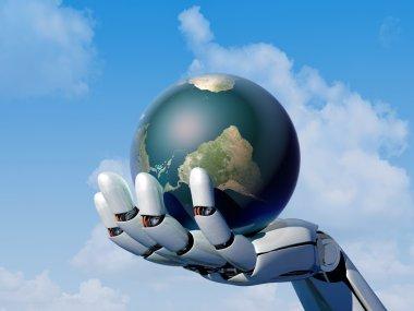 The robot arm.