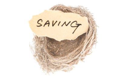 Saving concept