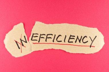 Inefficiency to efficiency