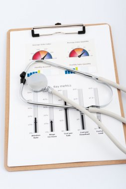 Business graph with stethoscope