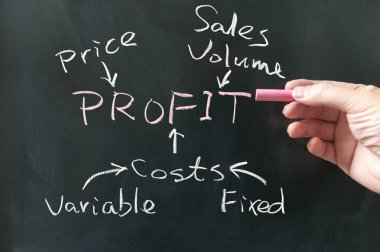 Business profit concept
