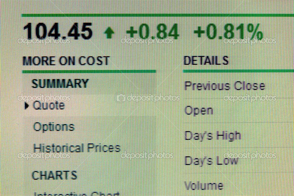 Stock data — Stock Photo © raywoo #27578503