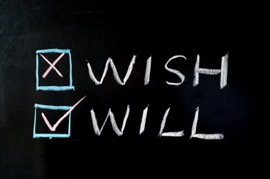 Wish versus will