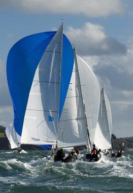 Skipper on yacht at regatta