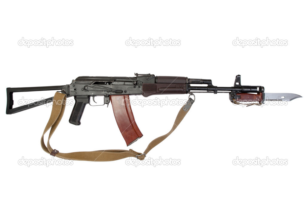 Kalashnikov assault rifle aks-74 with bayonet — Stock Photo