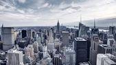 Letecký pohled na panorama New Yorku