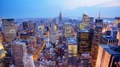 Fotografie Letecký pohled na panorama New Yorku