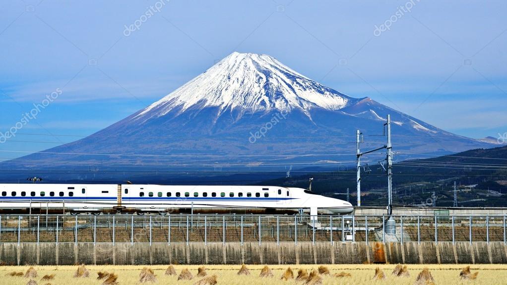 Fuji and Train