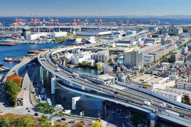 Industrial section of Yokohama, Japan