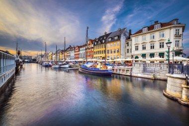 Copenhagen, Denmark on the Nyhavn canal. stock vector