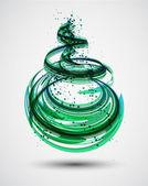 Fotografie abstrakt grüne Spirale Hintergrund. Vektor
