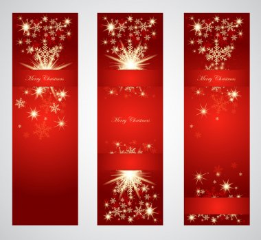 Vertical christmas web banners.
